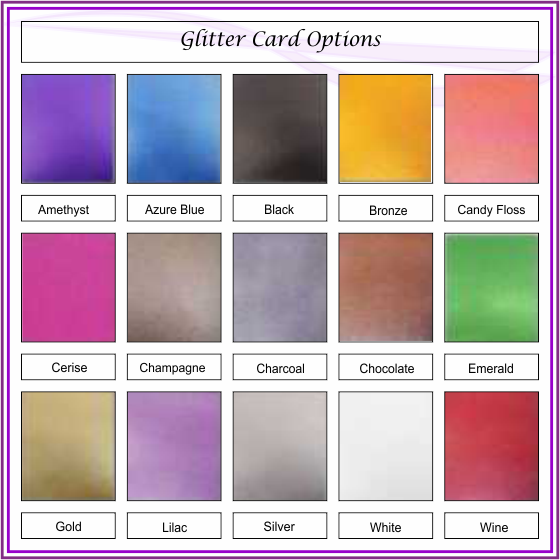 Textured Glitter Card Range of colours
